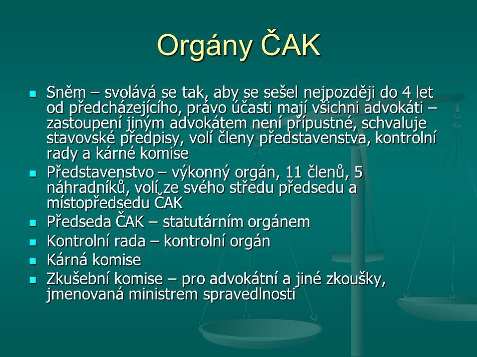 Orgány ČAK
