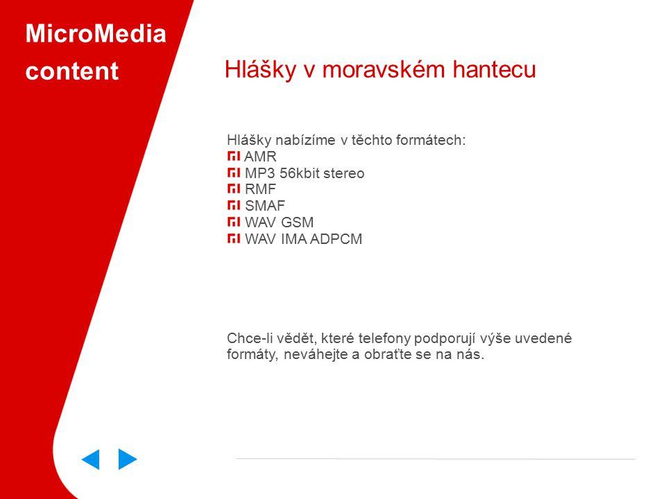 MicroMedia content Hlášky v moravském hantecu