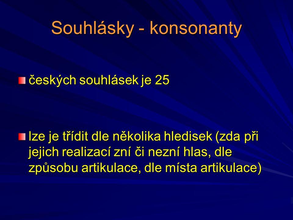 Souhlásky - konsonanty
