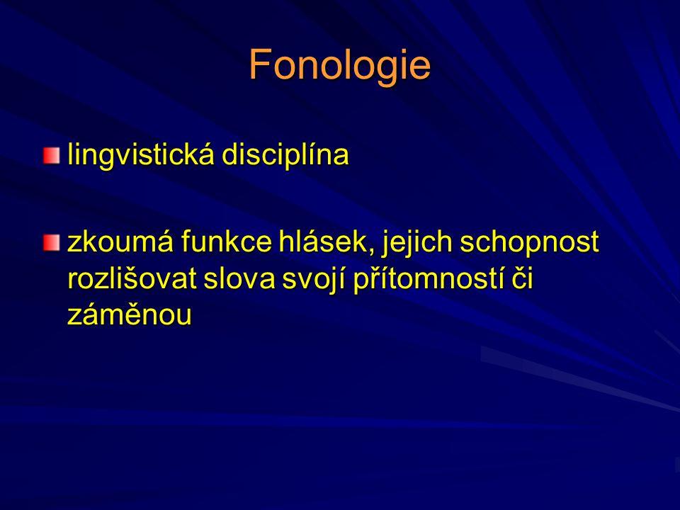 Fonologie lingvistická disciplína
