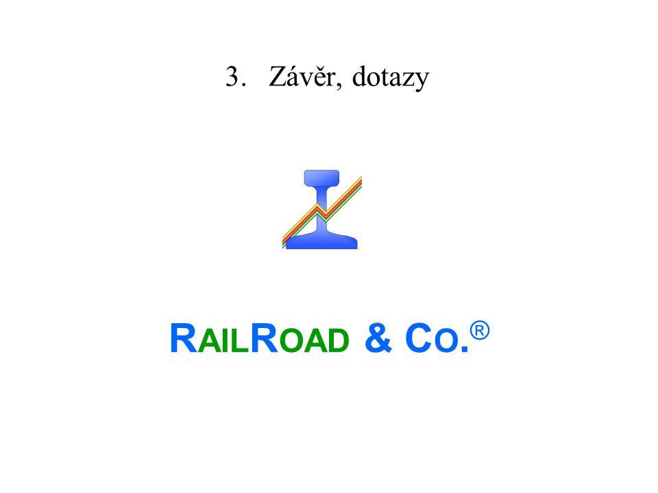 3. Závěr, dotazy RAILROAD & CO.®