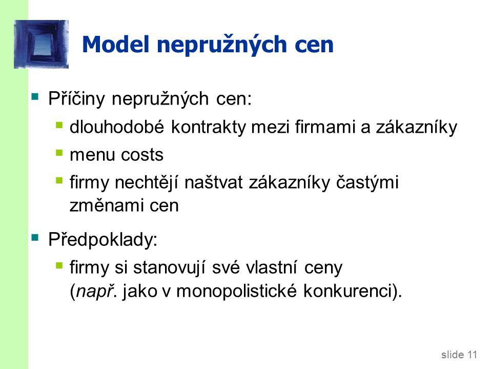 Model nepružných cen Požadovaná cena každé firmy je kde a > 0.