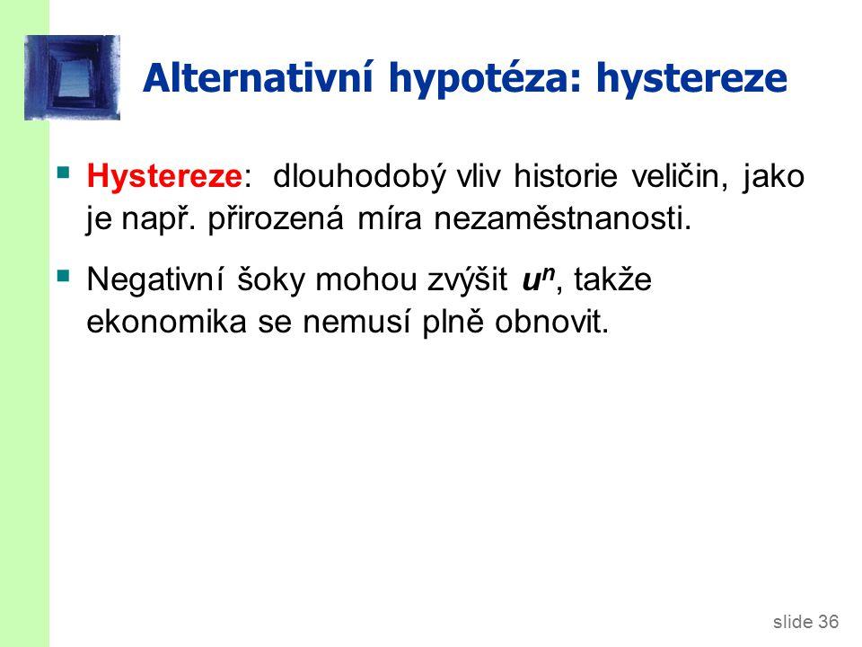 Hystereze: Proč mohou negativní šoky zvýšit přirozenou míru