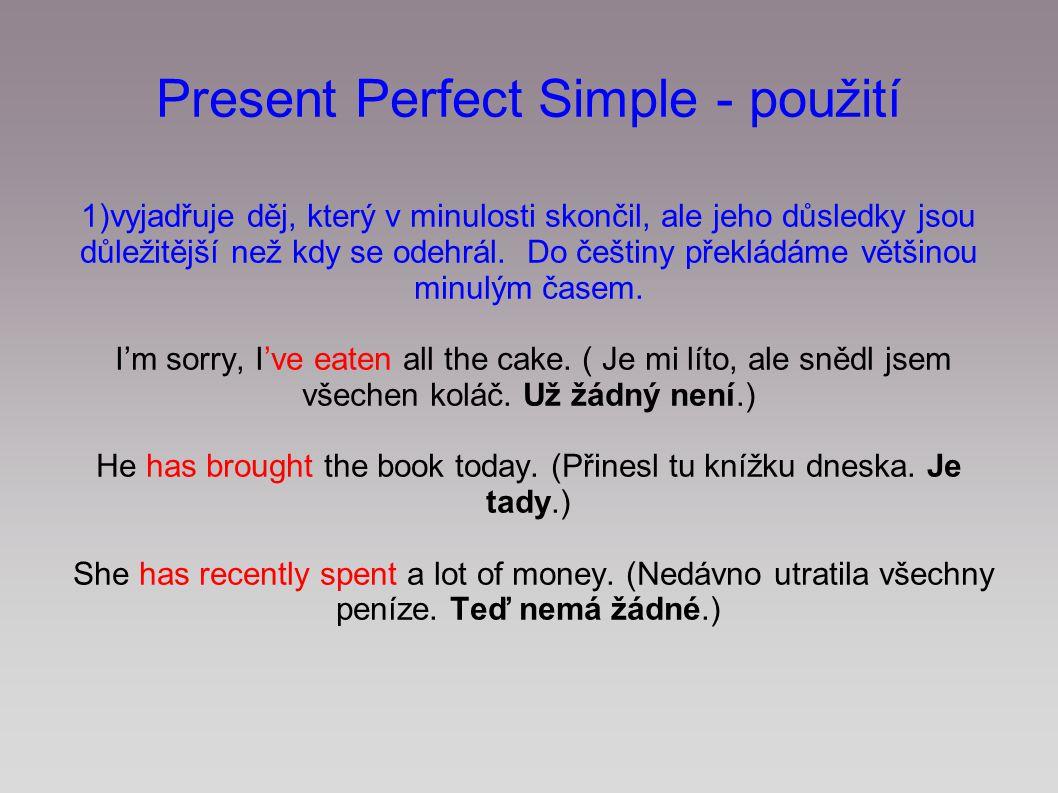 Present Perfect Simple - použití
