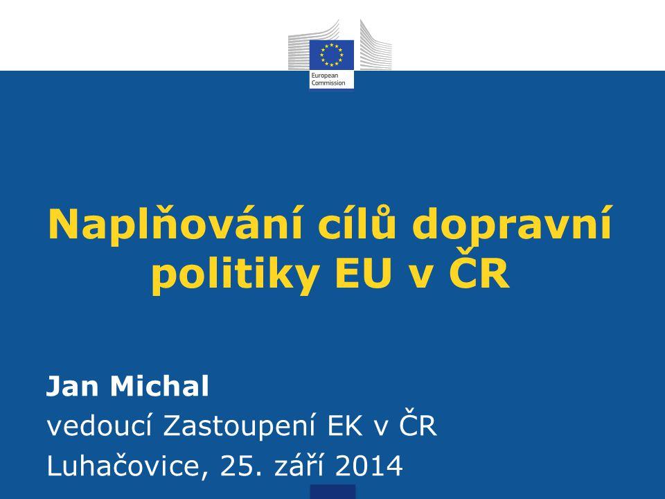 Naplňování cílů dopravní politiky EU v ČR