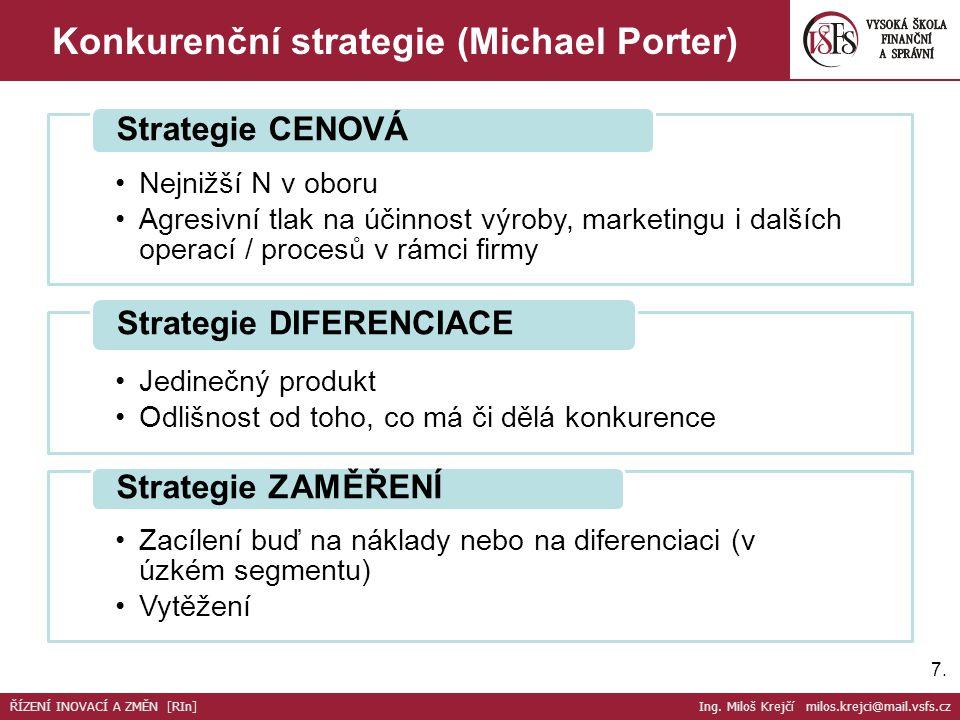 Konkurenční strategie (Michael Porter)