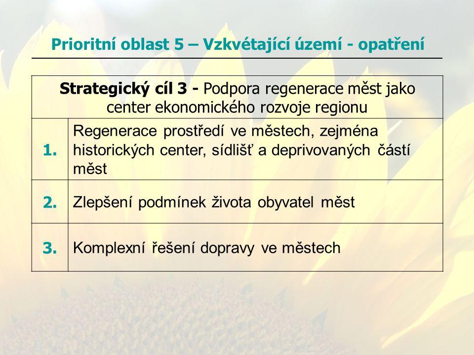 Prioritní oblast 5 – Vzkvétající území - opatření