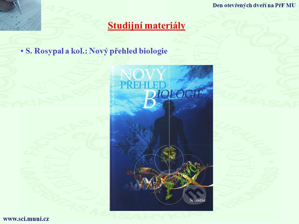 Studijní materiály S. Rosypal a kol.: Nový přehled biologie