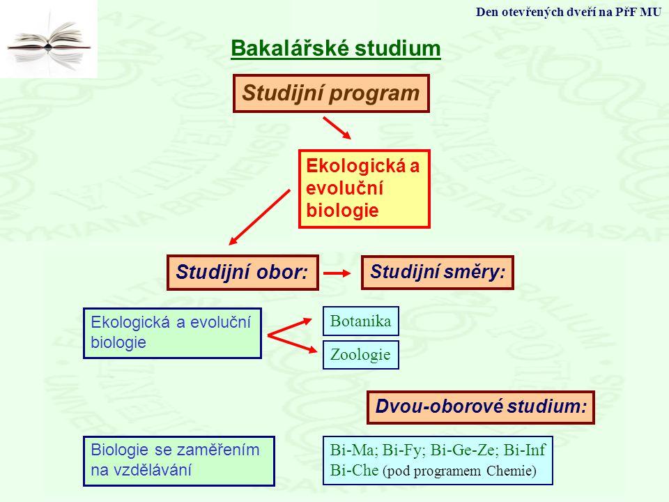 Bakalářské studium Studijní program Studijní obor: Ekologická a