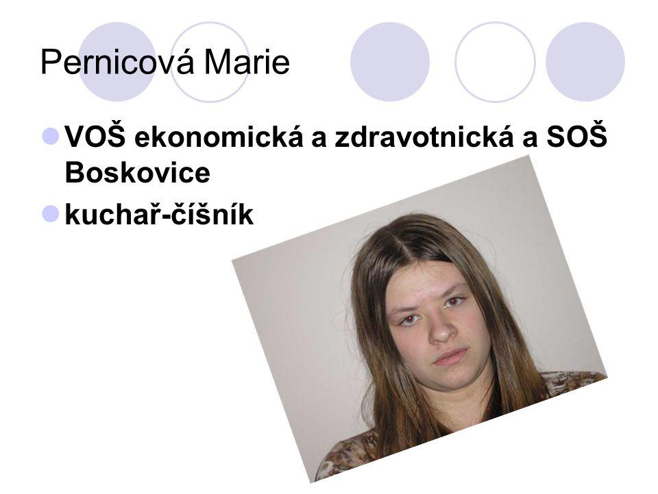 Pernicová Marie VOŠ ekonomická a zdravotnická a SOŠ Boskovice