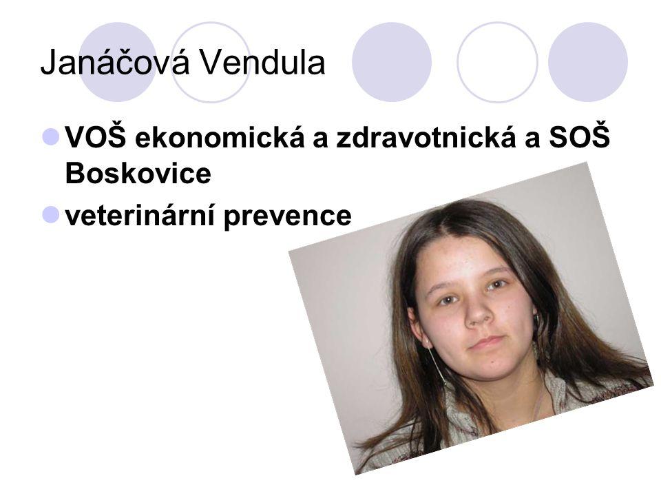 Janáčová Vendula VOŠ ekonomická a zdravotnická a SOŠ Boskovice