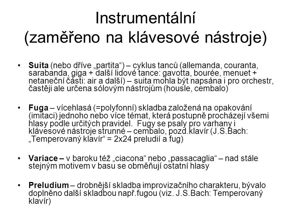 Instrumentální (zaměřeno na klávesové nástroje)