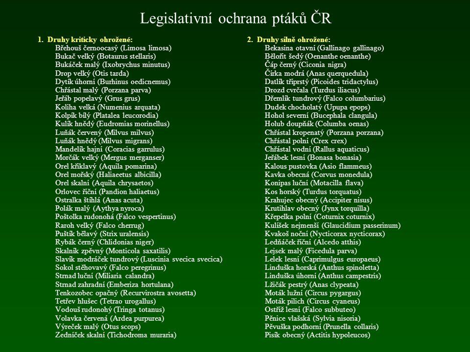Legislativní ochrana ptáků ČR