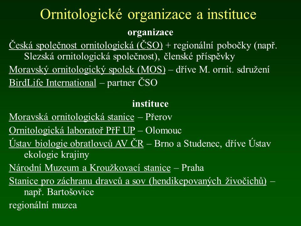 Ornitologické organizace a instituce