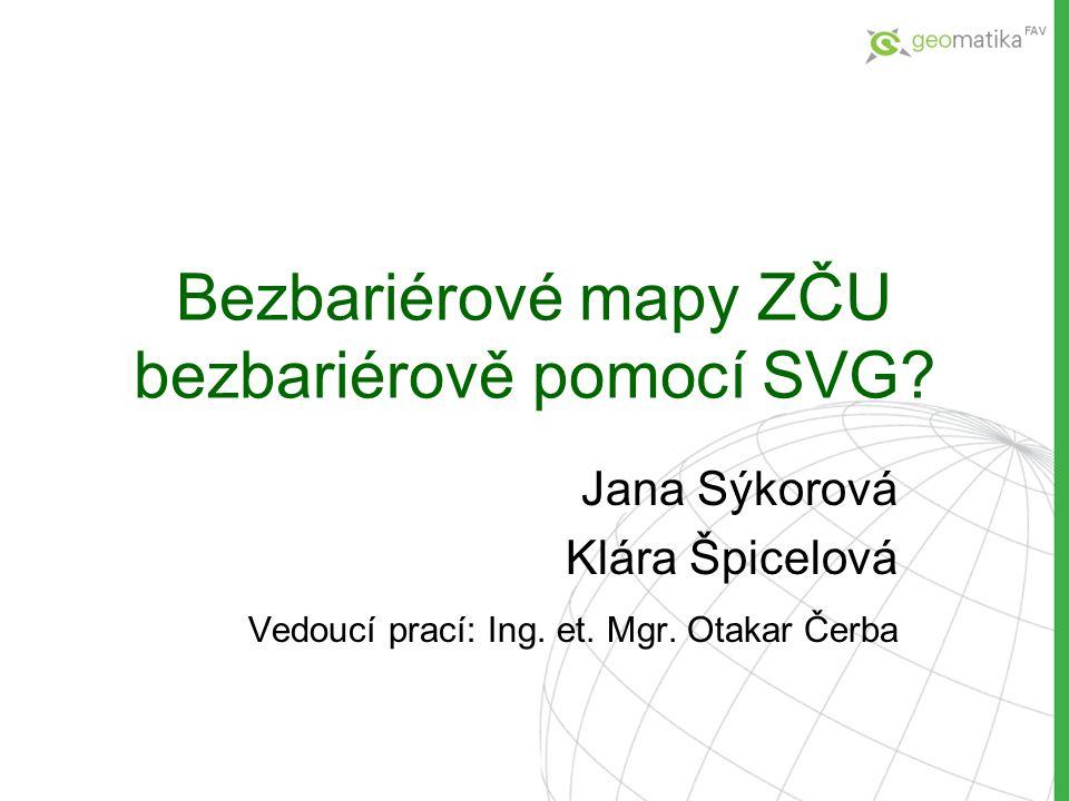 Bezbariérové mapy ZČU bezbariérově pomocí SVG