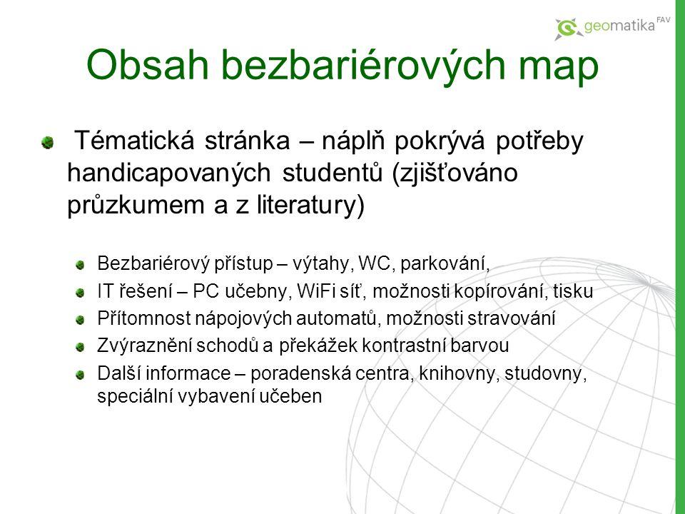 Obsah bezbariérových map