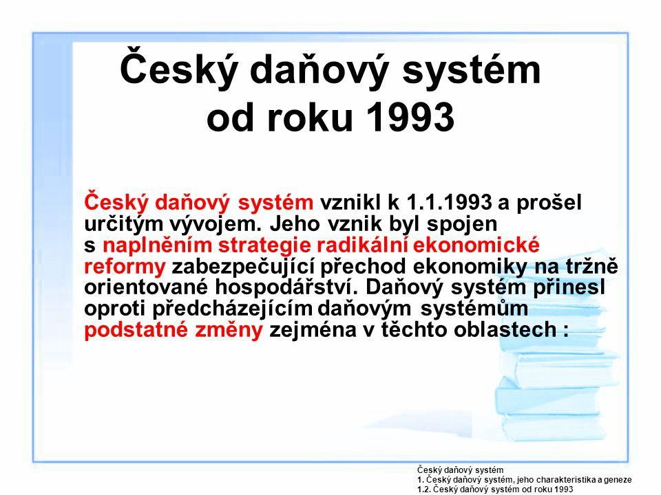 Český daňový systém od roku 1993