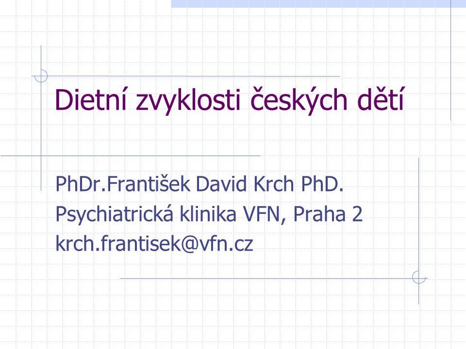 Dietní zvyklosti českých dětí