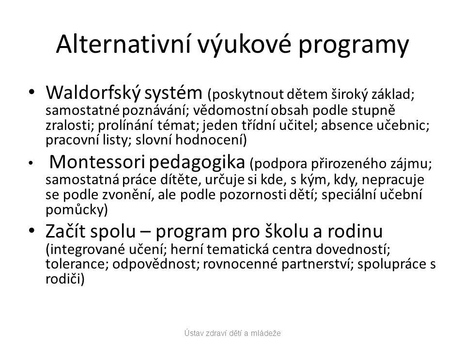 Alternativní výukové programy