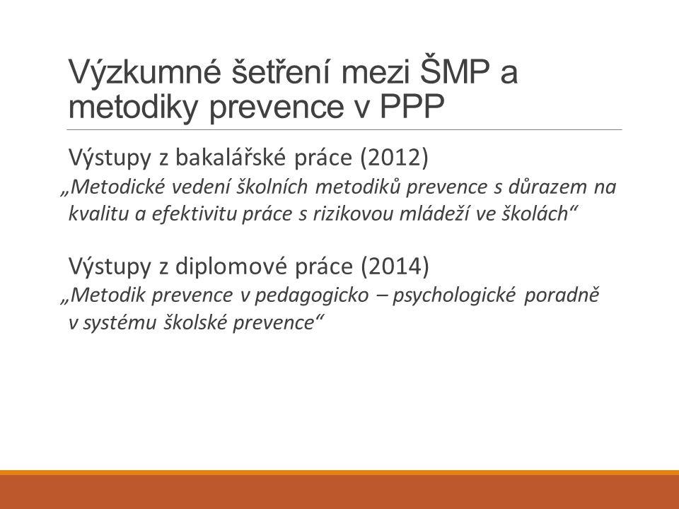 Výzkumné šetření mezi ŠMP a metodiky prevence v PPP