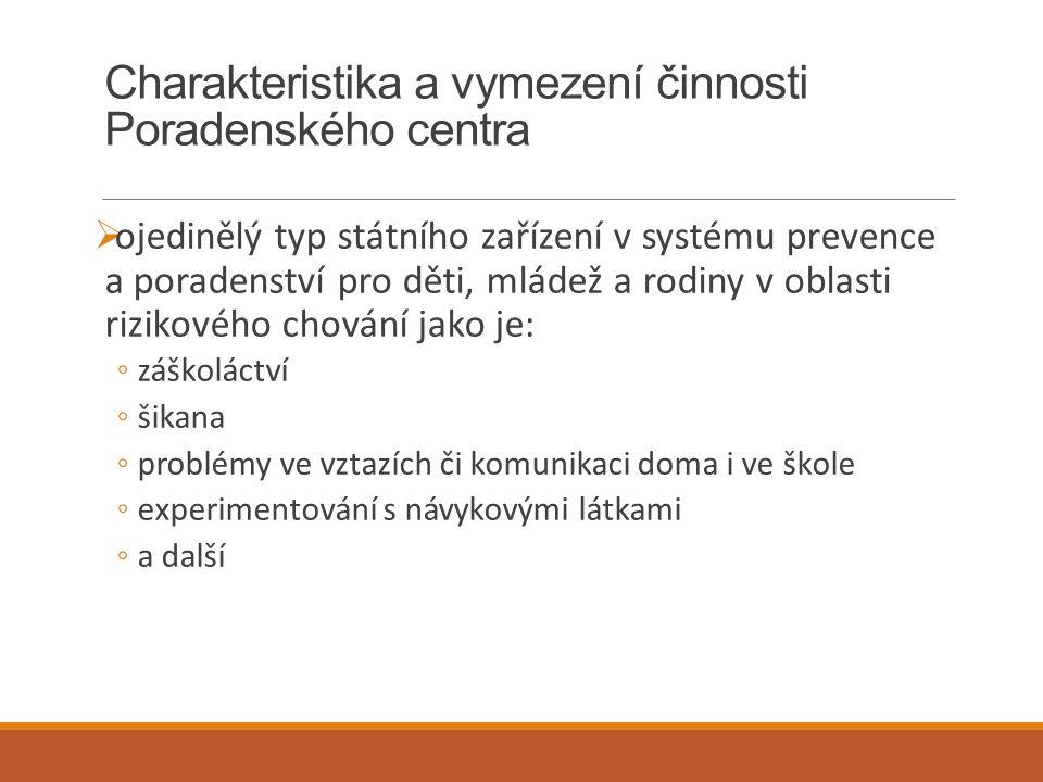 Charakteristika a vymezení činnosti Poradenského centra