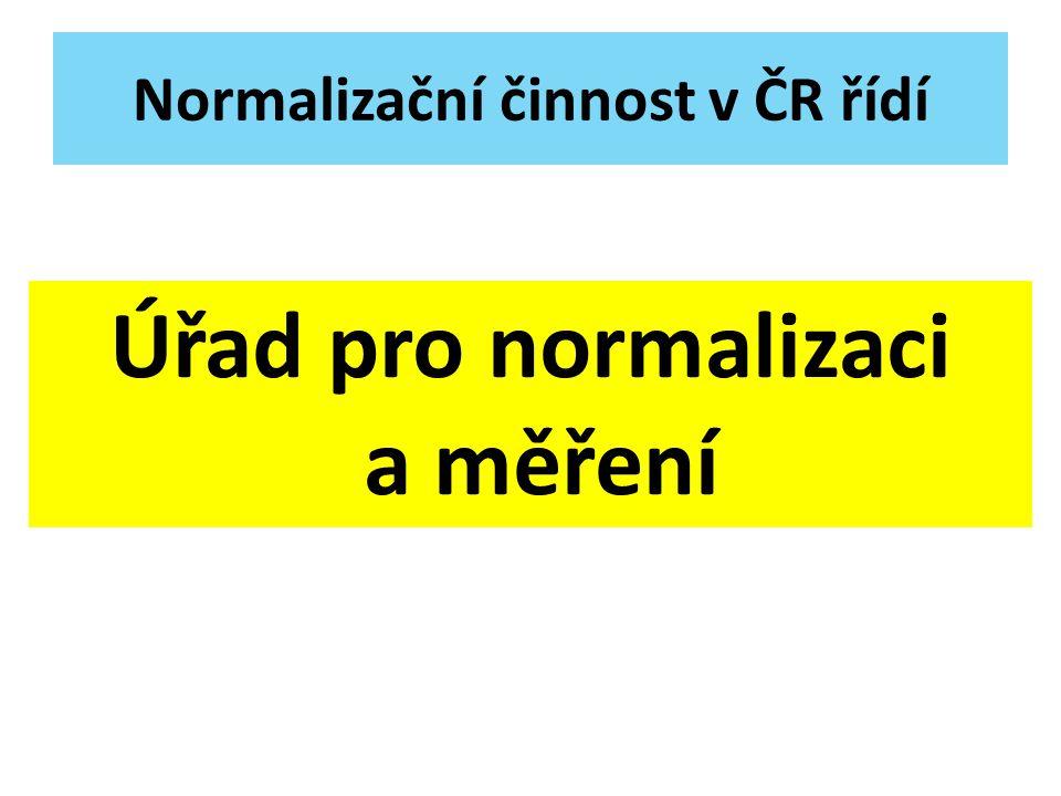 Normalizační činnost v ČR řídí
