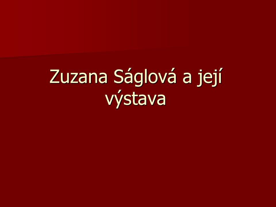 Zuzana Ságlová a její výstava