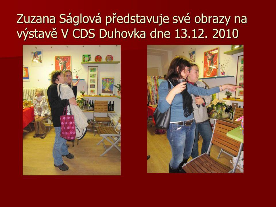 Zuzana Ságlová představuje své obrazy na výstavě V CDS Duhovka dne 13