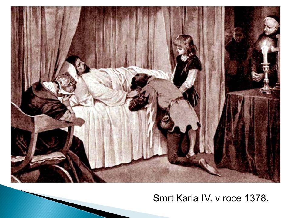Smrt Karla IV. v roce 1378.