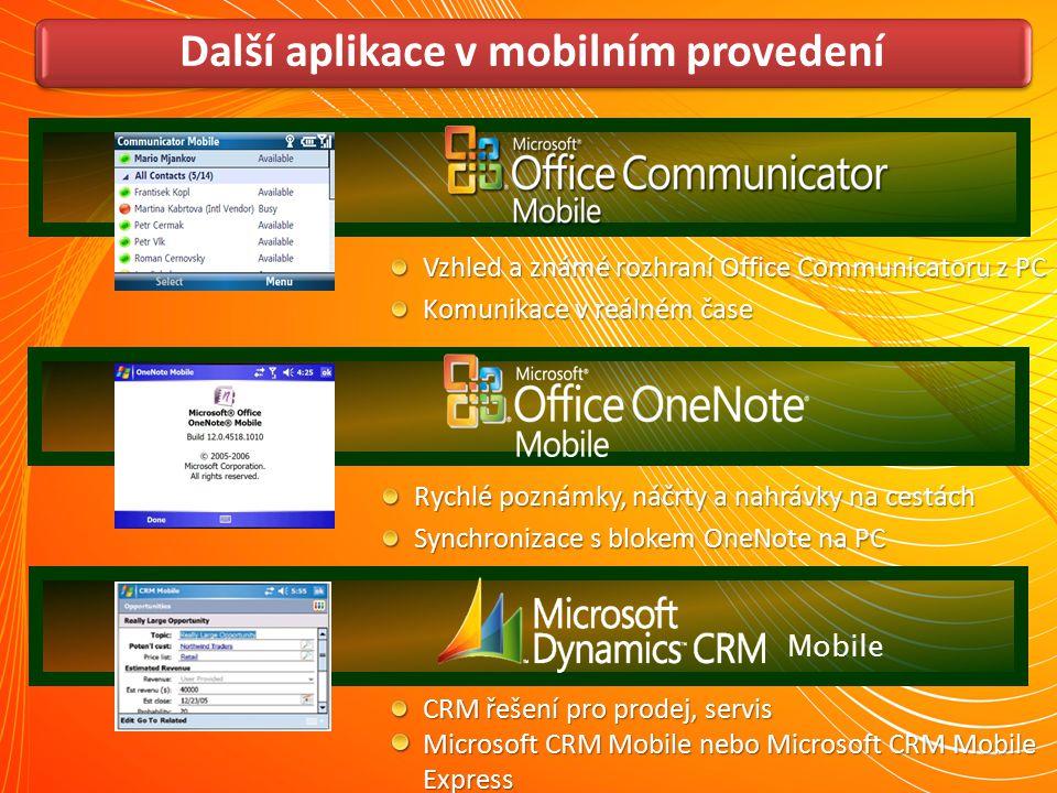Další aplikace v mobilním provedení