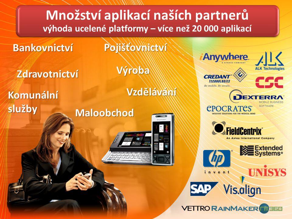 Množství aplikací naších partnerů výhoda ucelené platformy – více než 20 000 aplikací
