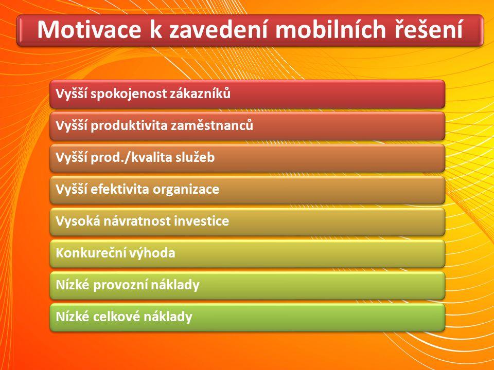 Motivace k zavedení mobilních řešení