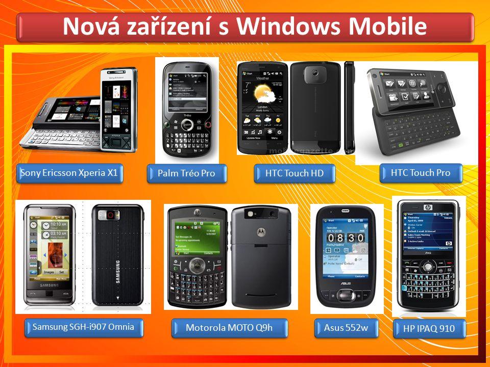 Nová zařízení s Windows Mobile
