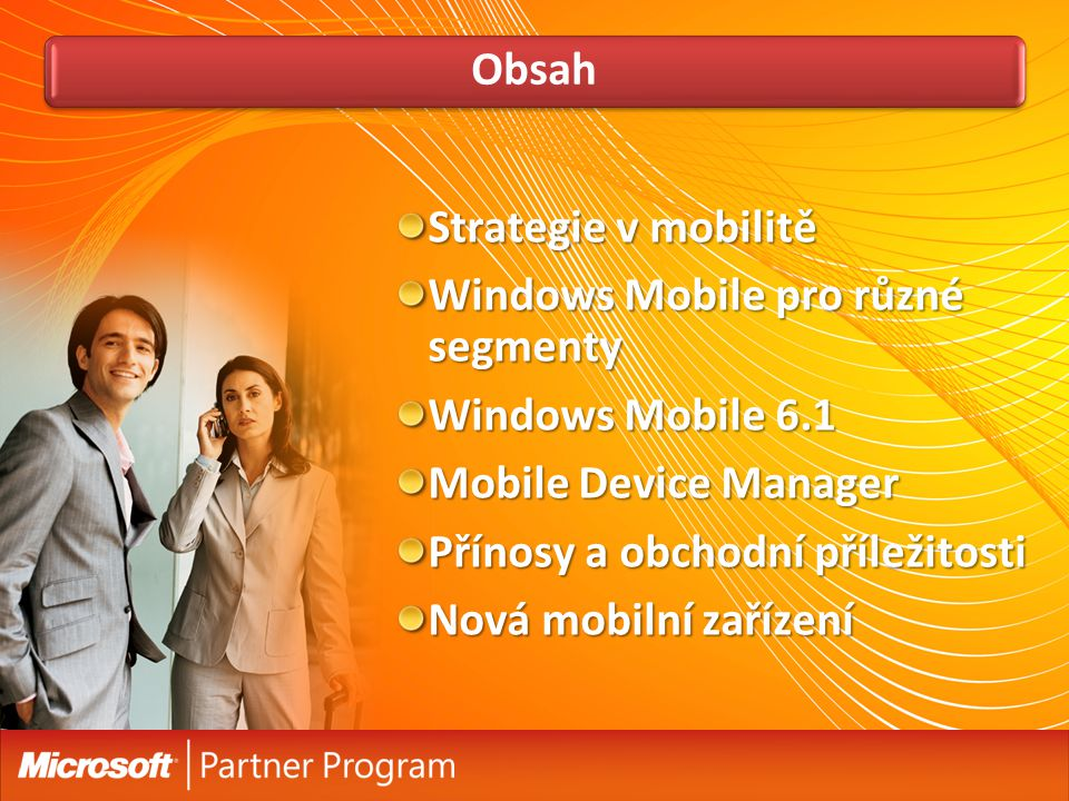 Windows Mobile pro různé segmenty Windows Mobile 6.1