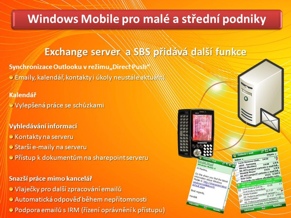 Windows Mobile pro malé a střední podniky