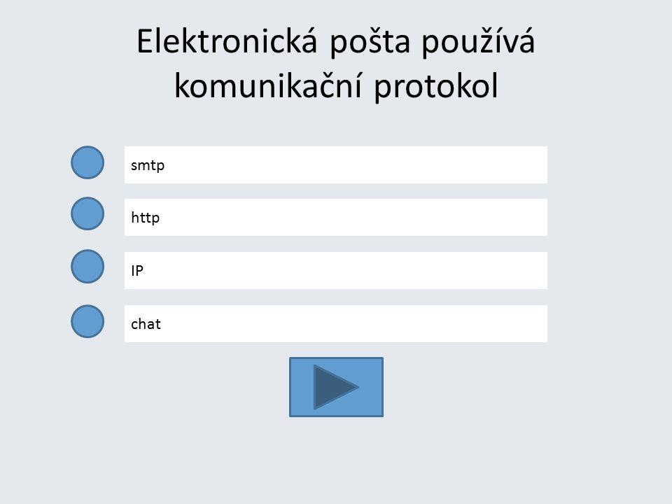 Elektronická pošta používá komunikační protokol