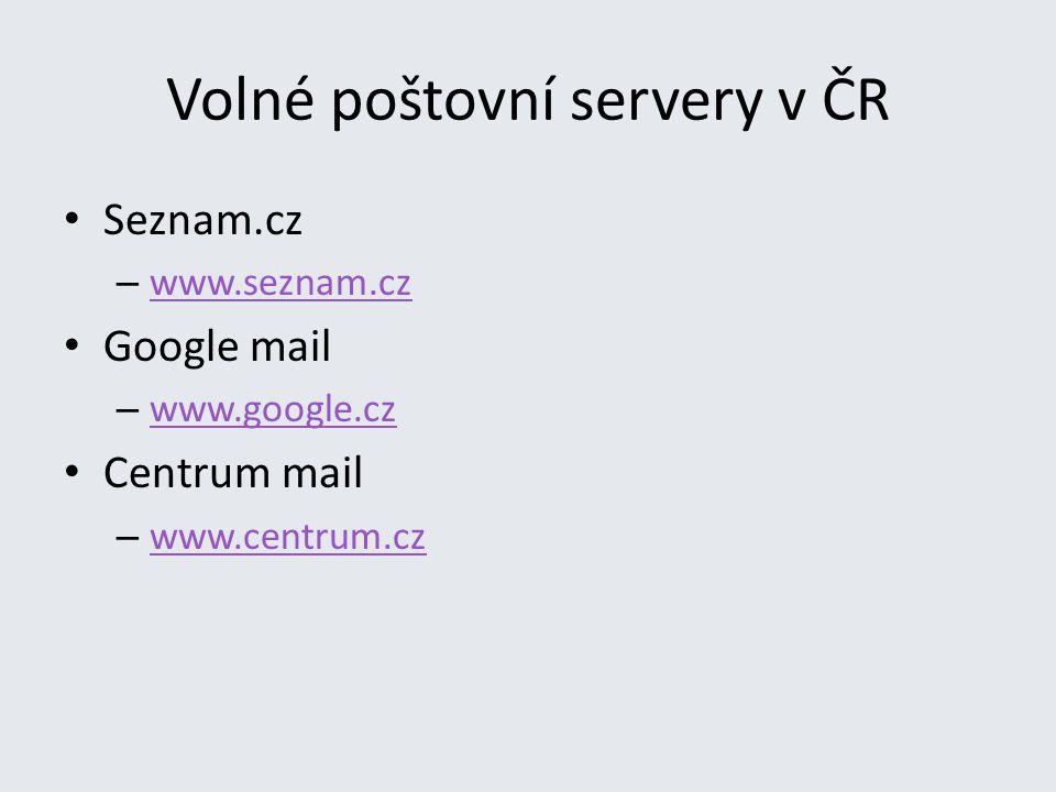 Volné poštovní servery v ČR