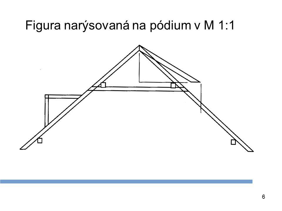 Figura narýsovaná na pódium v M 1:1