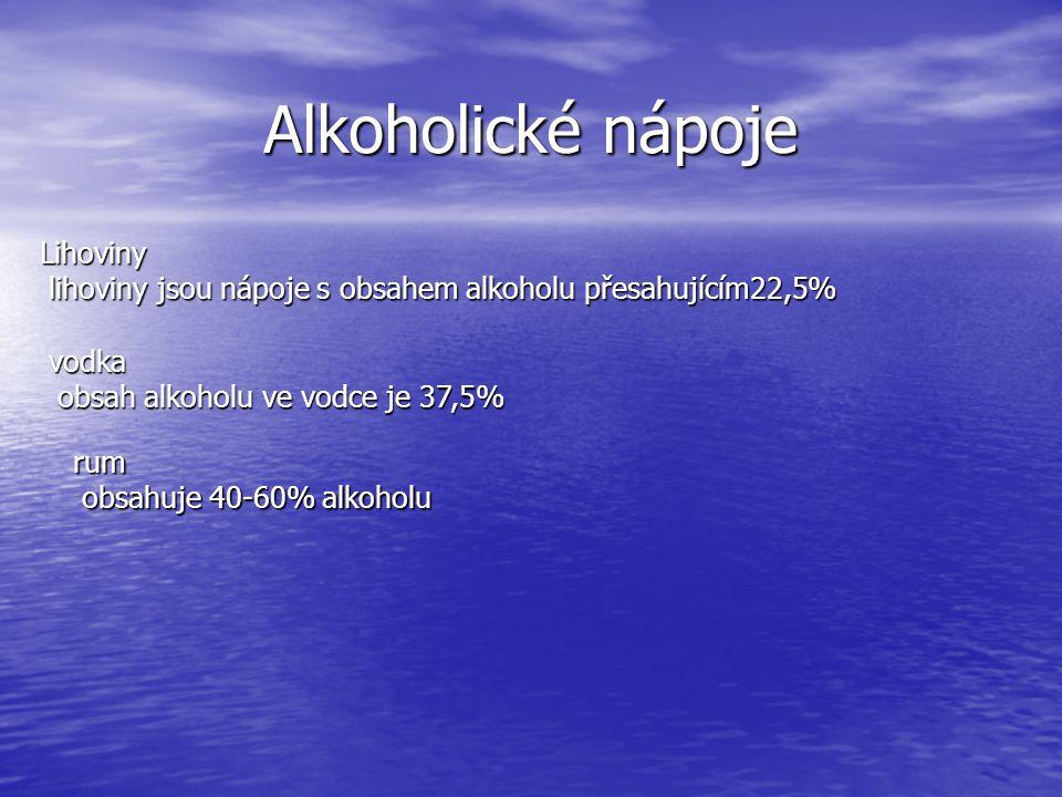 Alkoholické nápoje Lihoviny