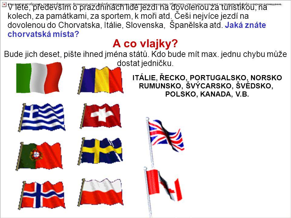 ITÁLIE, ŘECKO, PORTUGALSKO, NORSKO RUMUNSKO, ŠVÝCARSKO, ŠVÉDSKO,