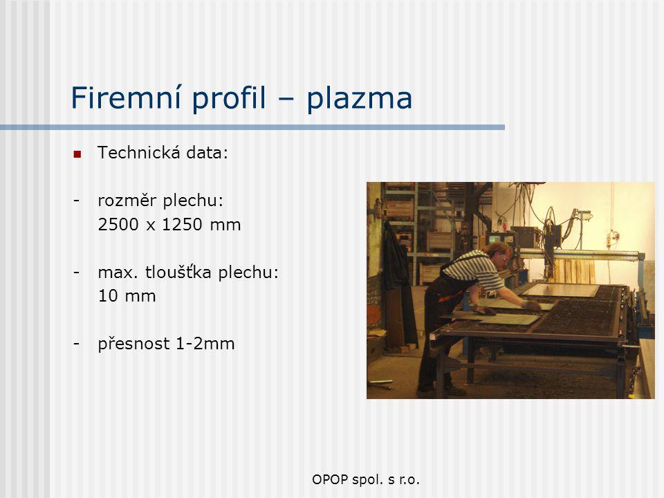 Firemní profil – plazma