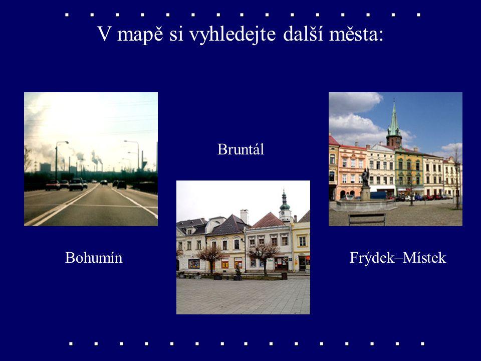V mapě si vyhledejte další města: