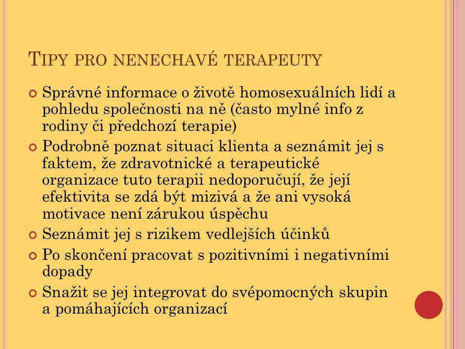 Tipy pro nenechavé terapeuty