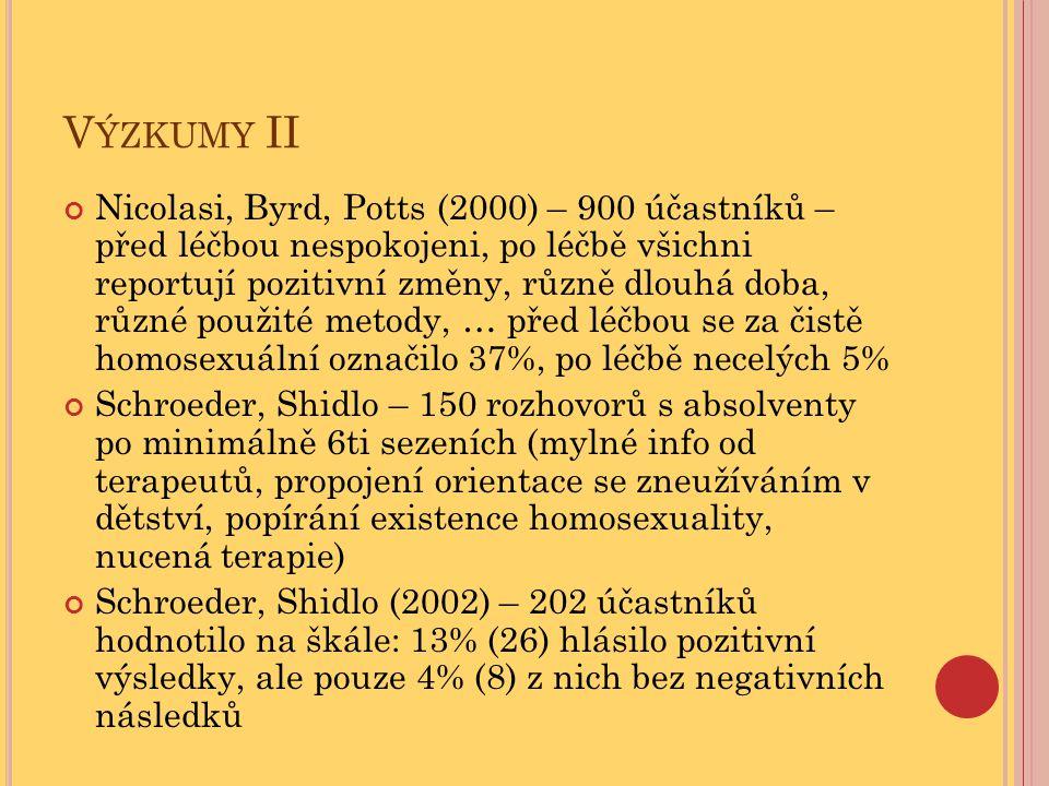Výzkumy II