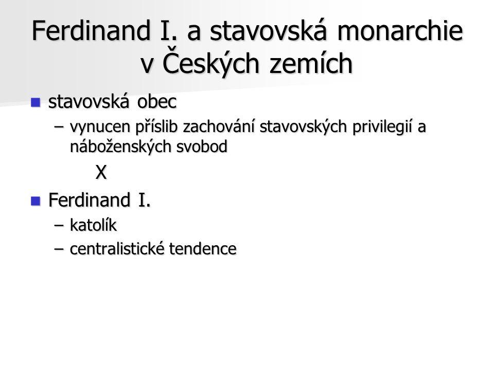 Ferdinand I. a stavovská monarchie v Českých zemích