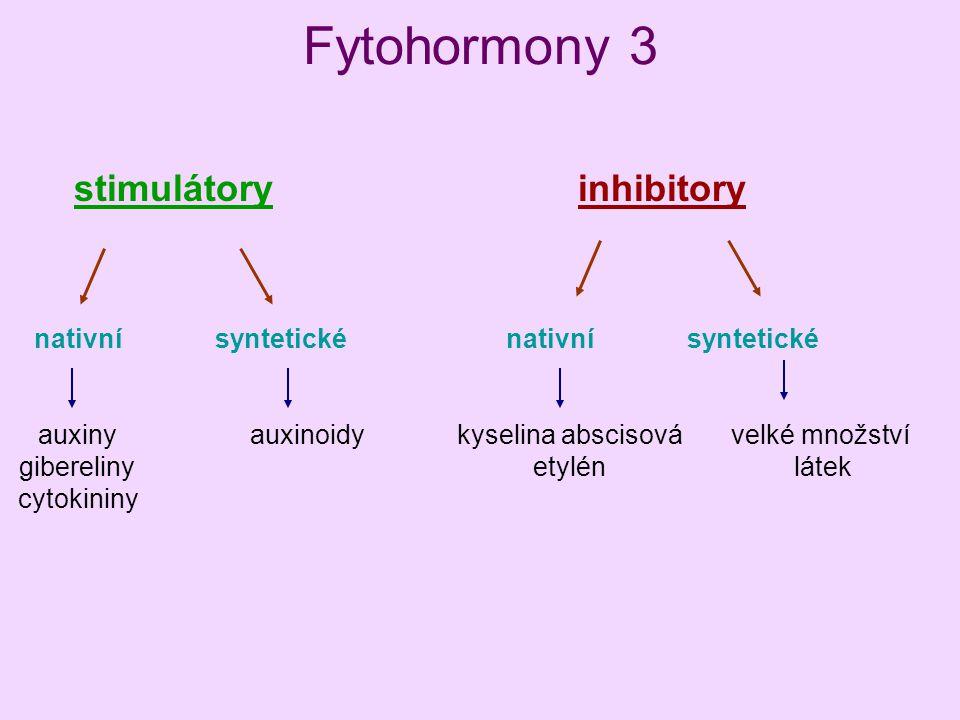 Fytohormony 3 stimulátory inhibitory nativní syntetické