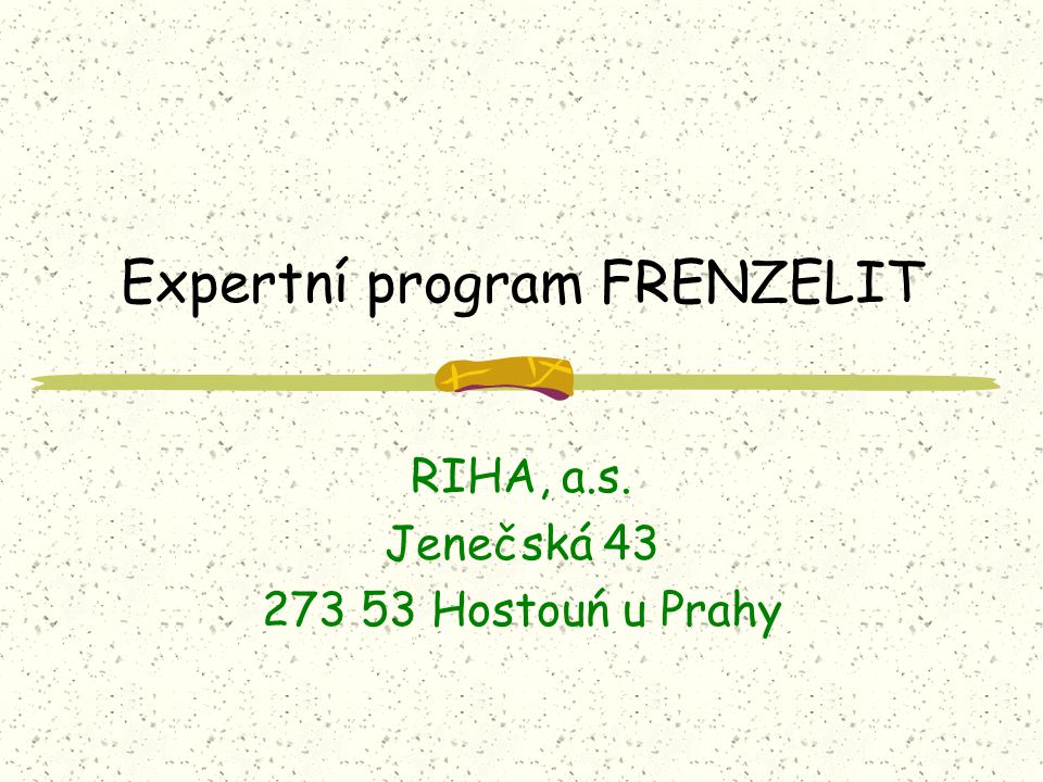 Expertní program FRENZELIT
