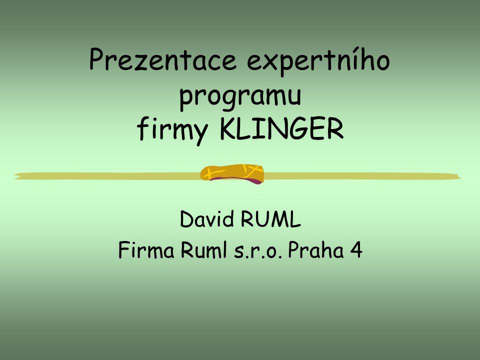 Prezentace expertního programu firmy KLINGER