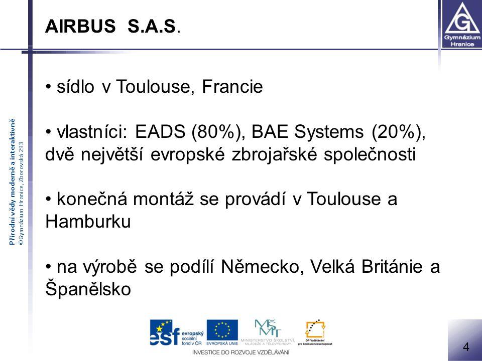 sídlo v Toulouse, Francie vlastníci: EADS (80%), BAE Systems (20%),
