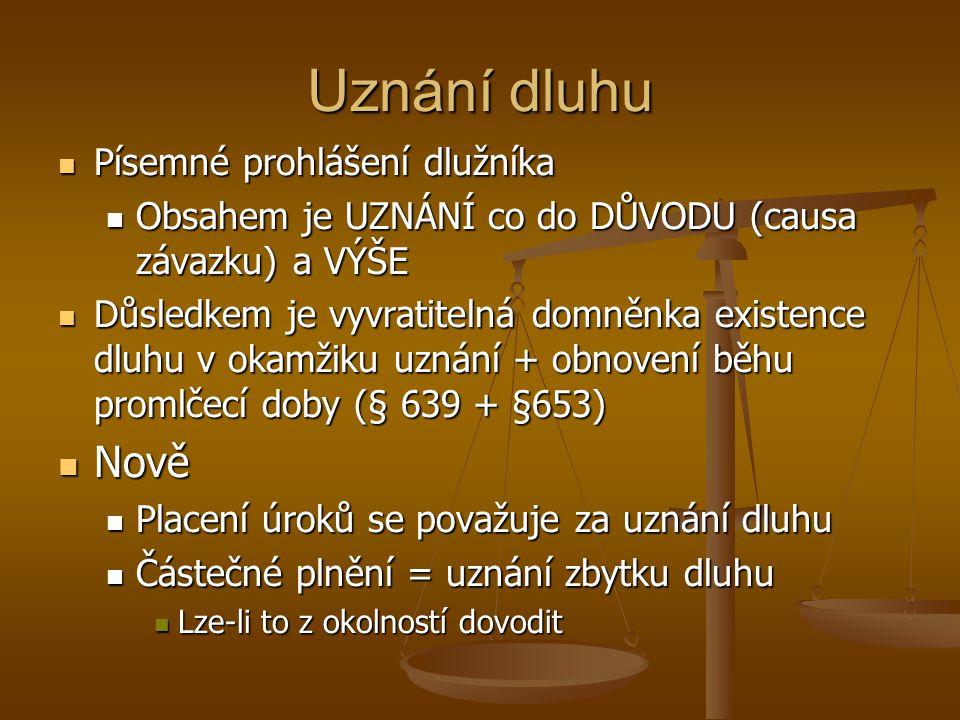 Uznání dluhu Nově Písemné prohlášení dlužníka